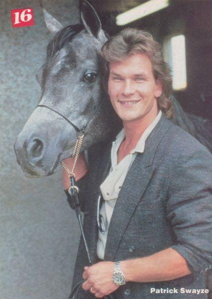 {*Patrick Swayze & one ov his Beautiful horses*}