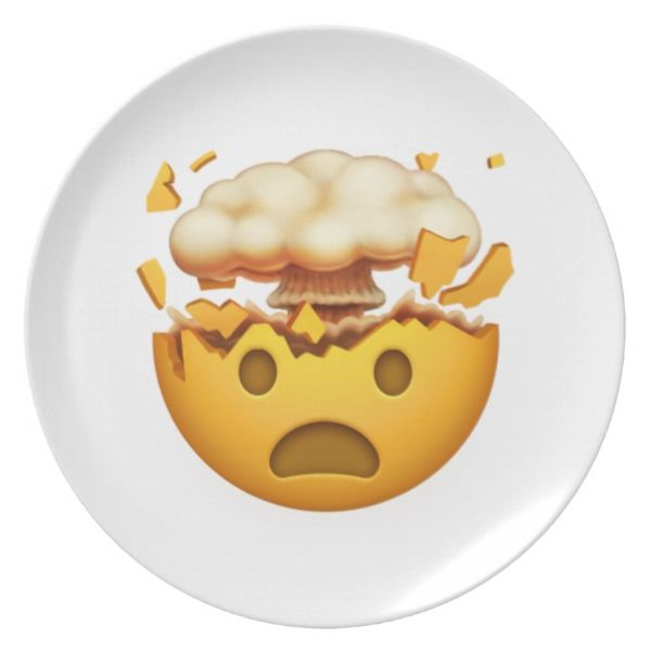 Shocked Face With Exploding Head - Emoji Dinner Plate | Zazzle com