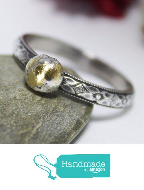 Floral Band Ring, Statement Ring, 24K Keum-boo Ring, Patterned Wire With Keum-boo Ball Ring , Silver Stacking Ring, Oxidized Ring from rosajuri https://www.amazon.com/dp/B01N8XOOKR/ref=hnd_sw_r_pi_dp_mgi1ybD6YAP6V #handmadeatamazon