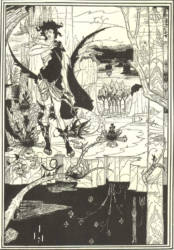 Aubrey Beardsley - Illustration - Art Nouveau - Siegfried:
