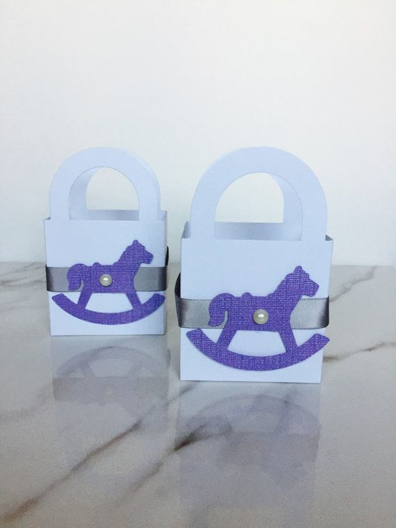 10 Ct Rocking Horse Baby shower treat bags. First birthday party. Rocking horse theme party. Lavender baby shower. Baby birthday.