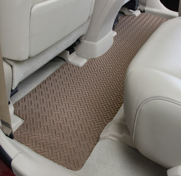 Northridge heavy duty rubber car mats one piece back seat for 1 piece floor mats