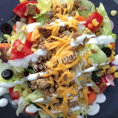 Ripped Recipes - Mexican Turkey Salad - One of my fave salads to make - so flavourful and filling!