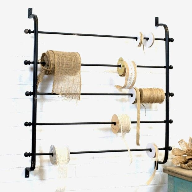 Ribbon And Wrapping Paper Wall Rack In 2020 Baskets On Wall