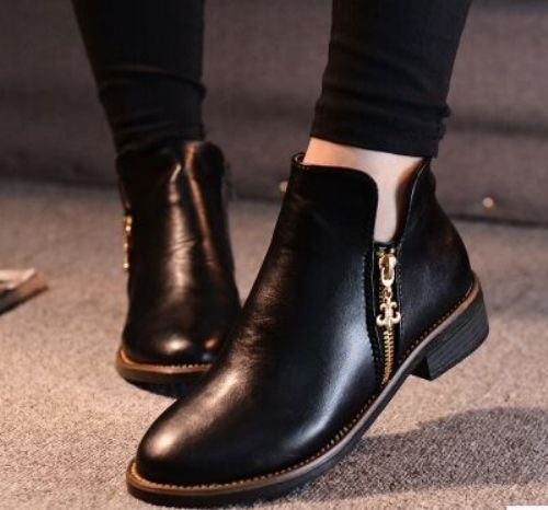 black-classic-ankle-boots- Ankle booties latest trend for 2017 http://www.justtrendygirls.com/ankle-booties-latest-trend-for-2017/