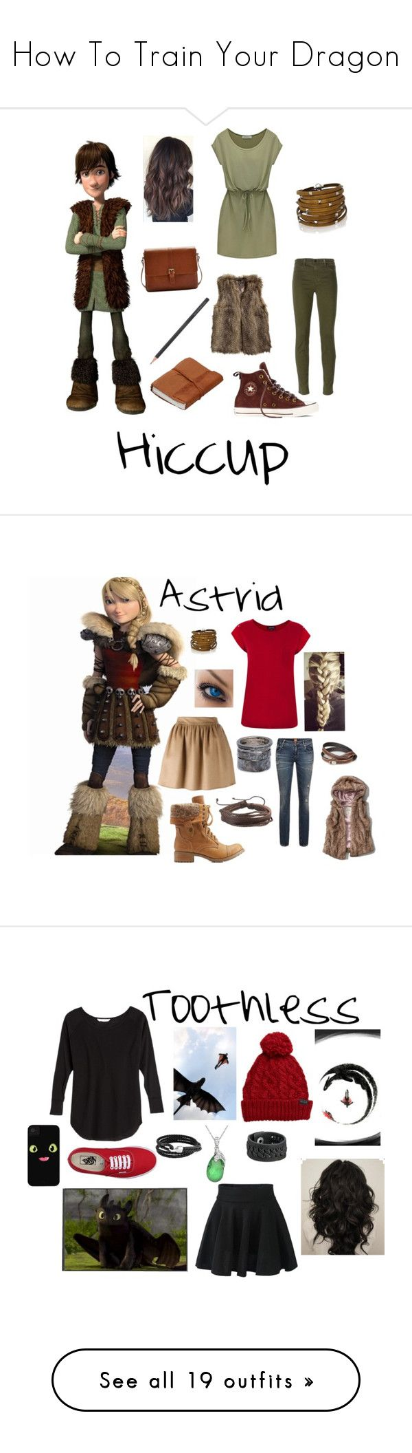 """""""How To Train Your Dragon"""" by pandapoptart15 ❤ liked on Polyvore featuring Sif Jakobs Jewellery, J Brand, Converse, H&M, Joules, Faber-Castell, Dsquared2, Warehouse, NOVICA and Abercrombie & Fitch"""