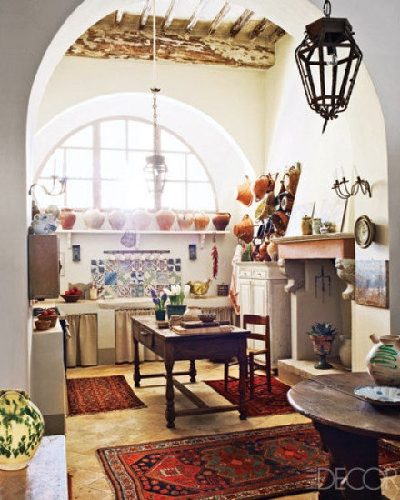 "All of the kitchens in this article are gorgeous but I absolutely love this one. So ""French Countryside"". 10 Creative Ideas For Kitchen Organization - www.savvysugar.com"