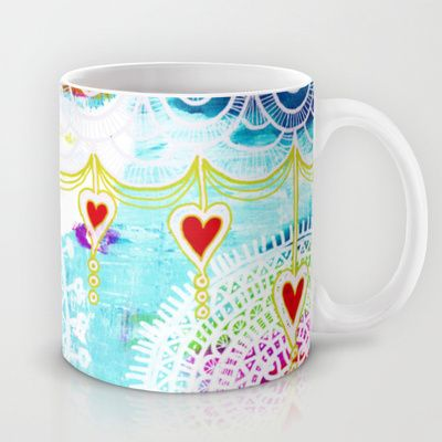 Heart garland Mug by Stina Glaas - $15.00