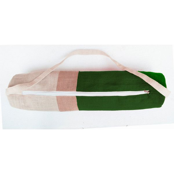 Personalized Yoga Bag Green Burlap Color Block Yoga Bag- Yoga Tote-... ($50) ❤ liked on Polyvore featuring bags, green tote bag, handbags totes, yoga tote bag, green backpack and yoga tote
