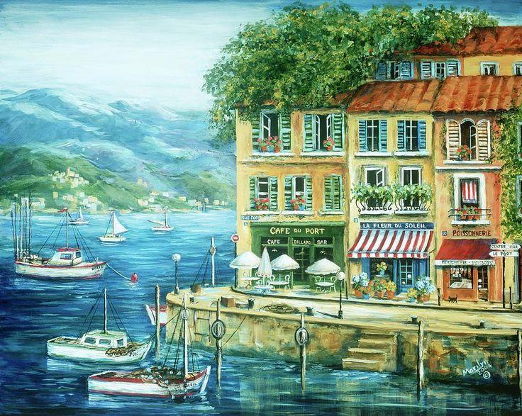 """Le Port"" by Marilyn Dunlap"