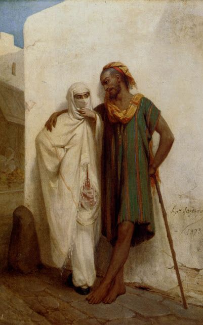 A Rendezvous in the Arabic Street by Jean-Raymond Hippolyte Lazerges