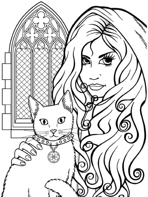 1 best goth coloring page images on pinterest  coloring