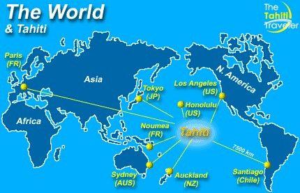 World Map Tahiti