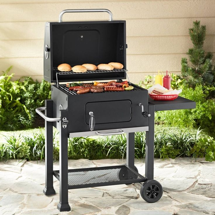 "BBQ Charcoal Barbecue Grill 24"" Portable Outdoor Patio Backyard Deck Meat Cook #BBQCharcoalBarbecue"