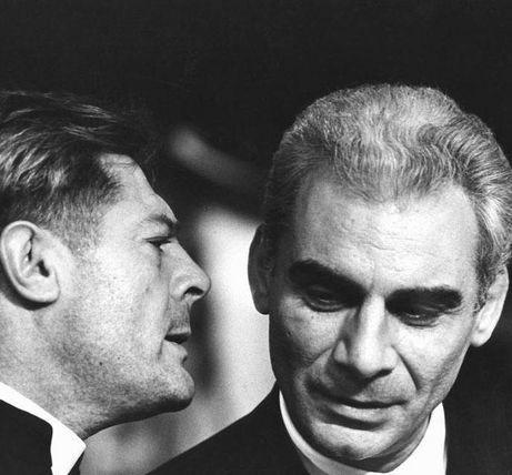 Todo Modo, d'Elio Petri, 1976. Marcello Mastroianni et Gian Maria Volonté.