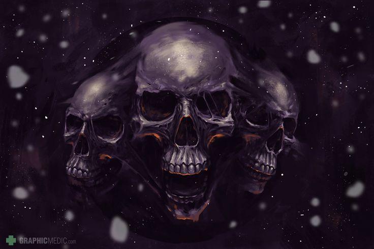 Skulls digial painting