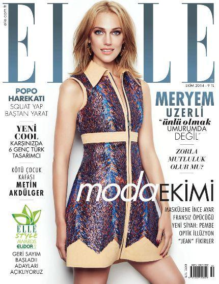 Meryem Uzerli - Elle Magazine Cover [Turkey] (October 2014)