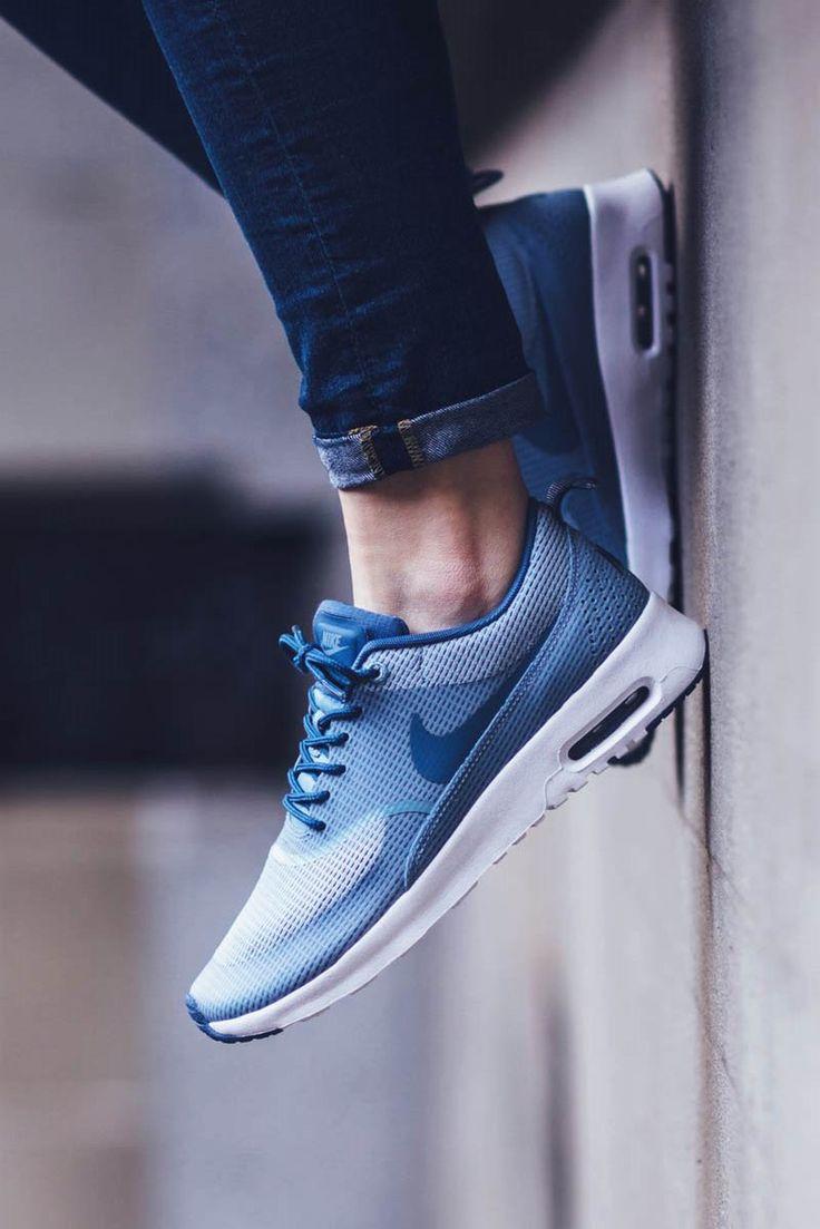 release date aca5b 09d10 Nike Air Max Thea Womens Grey Blue