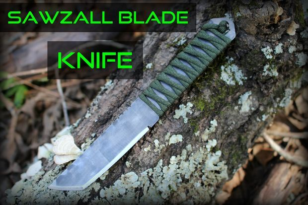 Knife Out of a Sawzall Blade (no HT): 12 Steps (with Pictures)
