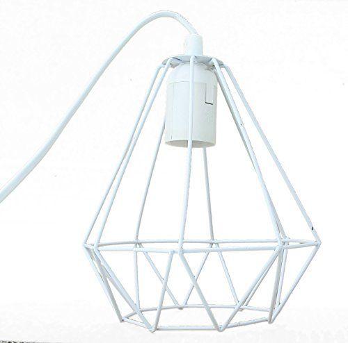 39 suspension diamant couleur blanc design industriel 20cm. Black Bedroom Furniture Sets. Home Design Ideas