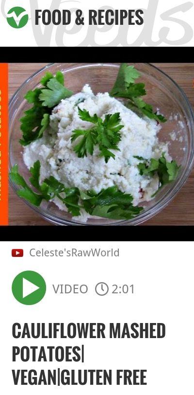 Cauliflower Mashed Potatoes  Vegan Gluten Free   http://veeds.com/i/t0pbgWd22W52npfj/jummy/