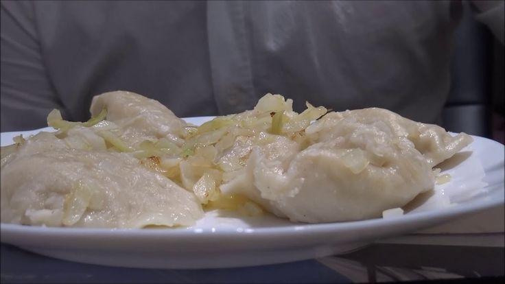 Eating ASMR 餃子 Dumplings with Fried Onions | No Talking