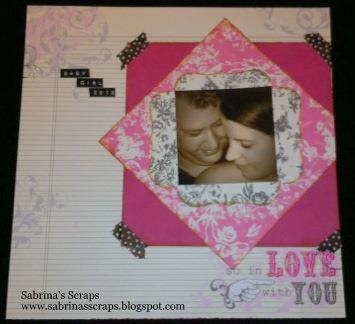 Layout I made for a challenge on WeScrap