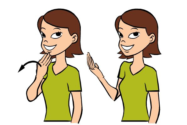 Video: Thank You in Baby Sign Language Signing: To sign thank you, extend your fingers and thumb. Touch you fingers to your chin and brin