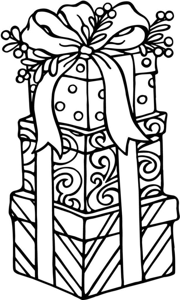 Presents Coloring Pages Holiday Coloring Pages Pinterest