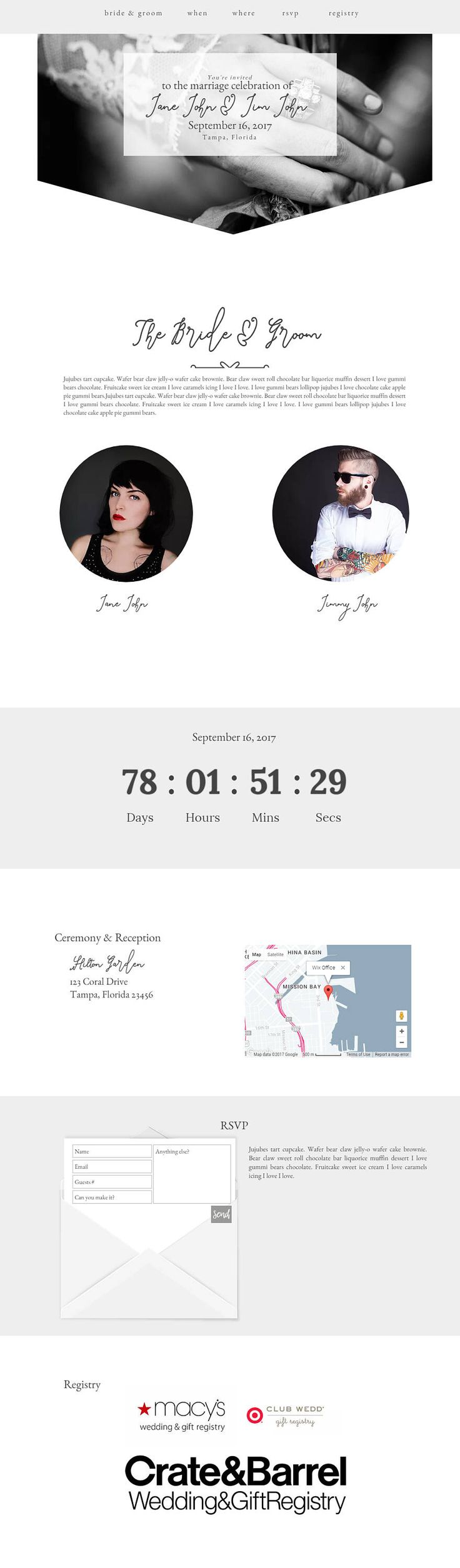 Wix Wedding Website Template Wedding Invitation Website