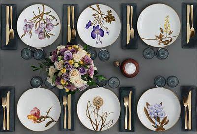 Dinner is served! Stunning tablewear by Royal Copehagen!