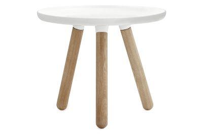Tablo Round Coffee Table White Top, White Legs, Small