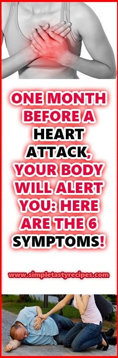 ONE MONTH BEFORE A HEART ATTACK, YOUR BODY WILL ALERT YOU HERE ARE THE 6 SYMPTOMS!