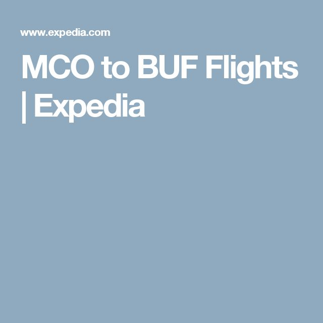 MCO to BUF Flights | Expedia