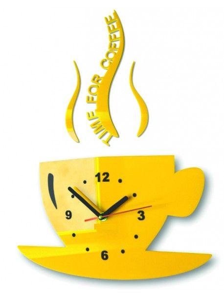 Nástěnné hodiny slunečnice šálek káva. Barva žlutá. Rozměr 36 x 32 cm Kód:  FL-z16-YELLOW-RAL1028 Stav:  Nový produkt  Dostupnost:  Skladem  Přišel čas na změnu! Dekorační hodinky oživí každý interiér, zvýrazní šarm a styl Vašeho prostoru. Zůtulní realít s novými hodinami. Nástěnné hodiny z plexiskla jsou nádhernou dekorací Vašeho interiéru.