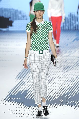 Lacoste ladies golf fashion looking good