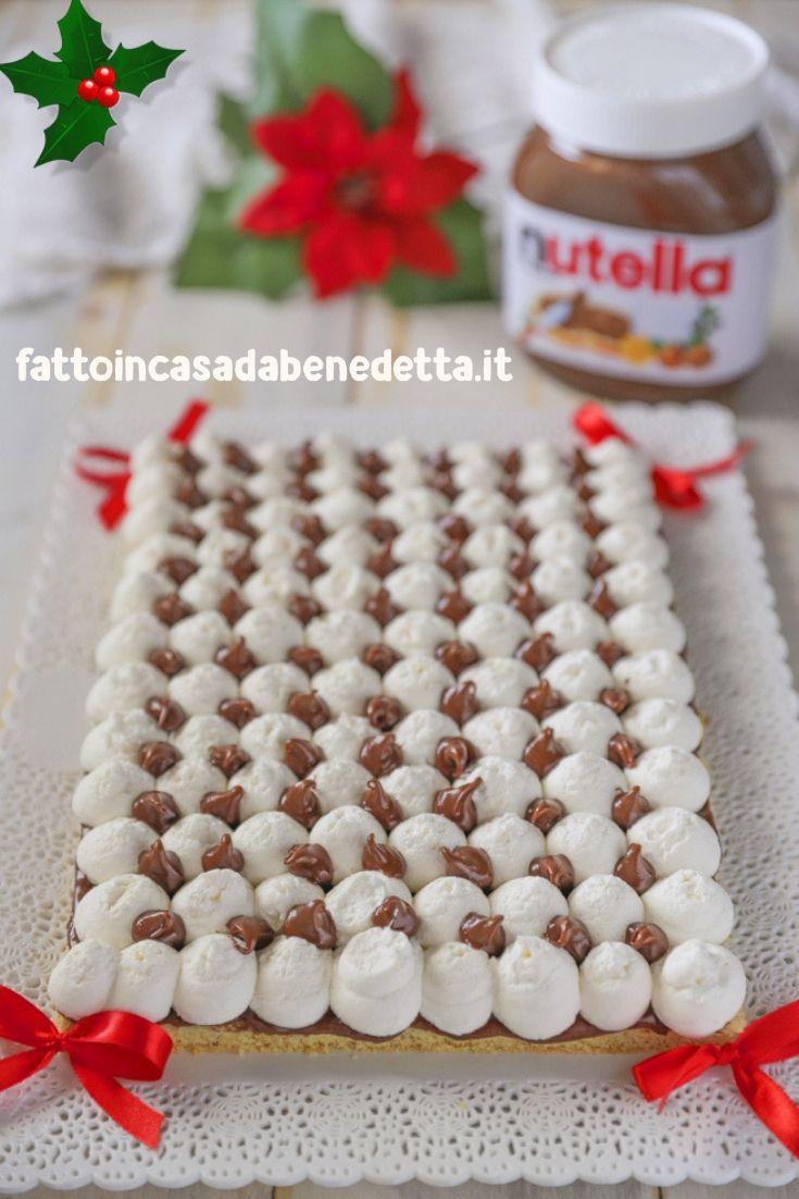 Dolci Per Il Giorno Di Natale.Torta Di Natale Con Nutella Postres Navidenos Ricette