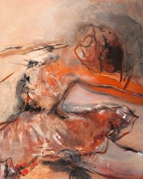 """Muse"" - Large Artwork - contemporary - Mixed Media Art - Scandinavian Art Factory"