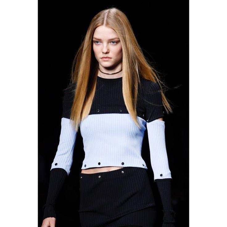 Versace. #sweater #blonde #pastel #fashion #VogueRussia #readytowear #rtw #springsummer2017 #Versace #VogueCollections