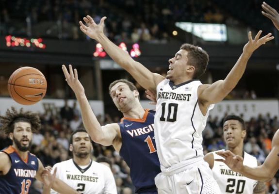 No. 11 Virginia stuns Wake Forest 72-71 on Thompson's late 3
