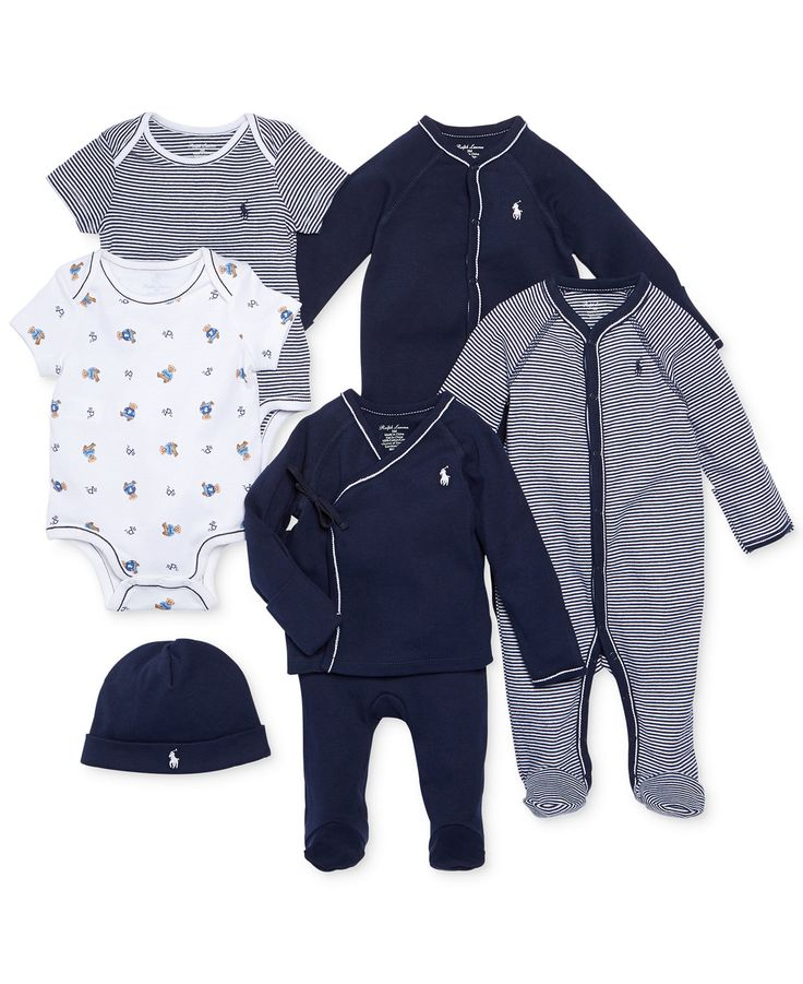 Ralph Lauren Baby Boys' Nestled In Navy Gift Bundle - Kids Baby Boy (0-24 months) - Macy's
