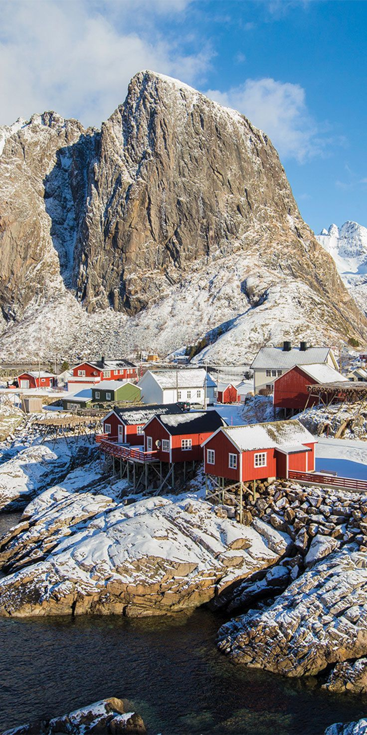 Fresh snow in Hamnøy, Norway - by Sean Scott