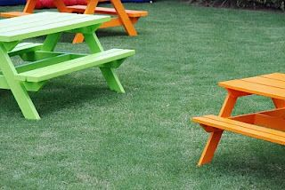 Picnic Table Plans on Pinterest | Kids Picnic Table, Children's Picnic ...