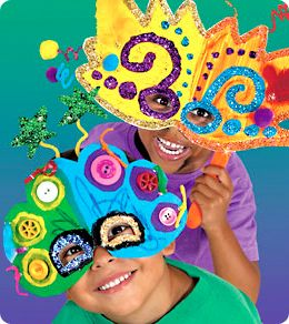 Party Masks from Lakeshore Learning: Children create festive party masks that are perfect for celebrating New Year's or any special occasion!