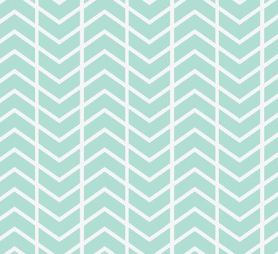 Fitted Crib Sheet - Mint Chevron