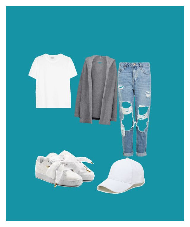 """Untitled #52"" by ionescu-alexandra25 on Polyvore featuring Yves Saint Laurent, Topshop, Chinti and Parker, Puma and Sole Society"