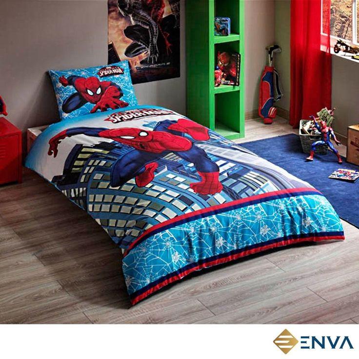 Spiderman Original Single/Twin Children's 100% Cotton Bedding Set Quilt/Duvet