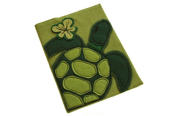 Removable book cover journal turtle time by tratgirl by tratgirl55, $35.00