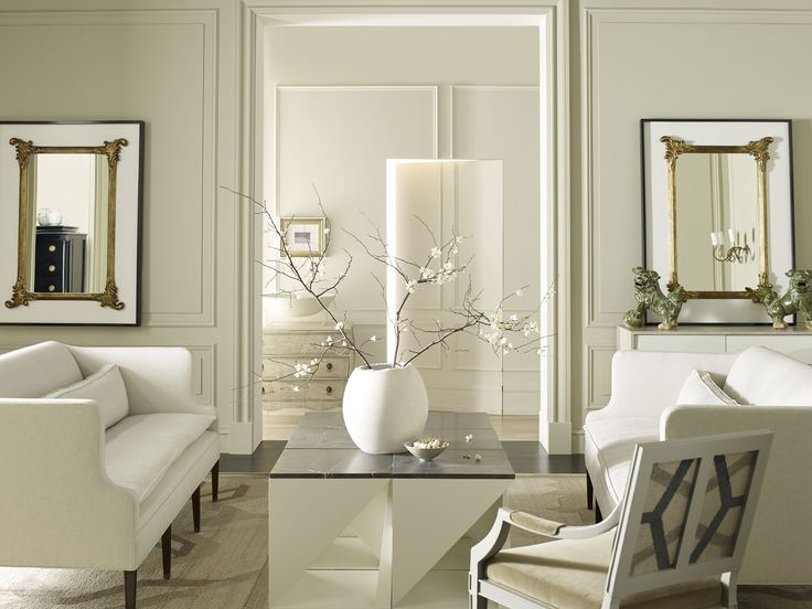 Darryl Carter | Room Scene Features The Worthington Settee, Windom Arm  Chair, Fold Accent