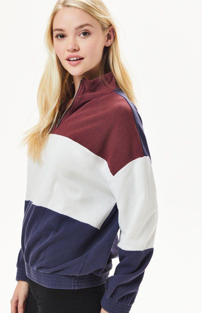 4a2ab2b4bf05 Colorblocked Half Zip Sweatshirt